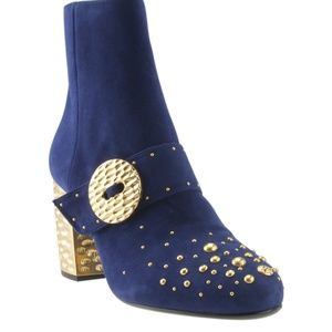 Prada 1T819H Studded Ankle Bootsx Size 40 166457
